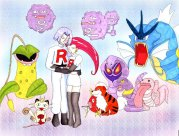 Jessie, James and all their pokemon